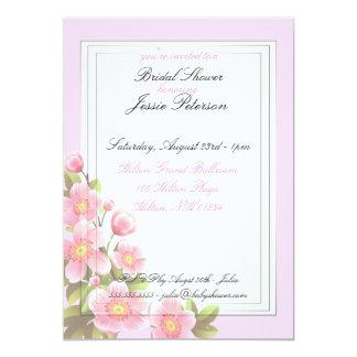 Rosan blommar inbjudningskort för möhippankort