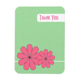 Rosan blommar (tack) magnet