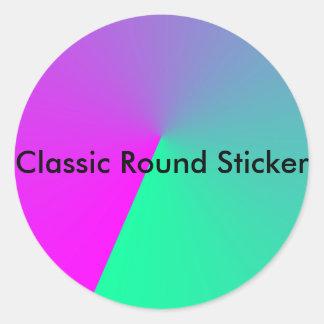 Rosan färgar bilder runt klistermärke