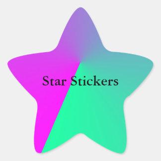 Rosan färgar bilder stjärnformat klistermärke