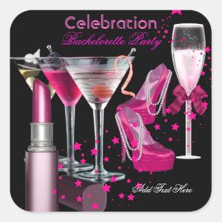 Rosan för Bachelorette partyläppstift skor Fyrkantigt Klistermärke