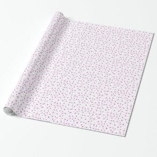 Rosan pricker inpackning av papper presentpapper
