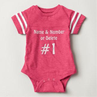 Rosanamn och numrerar babyen Jersey ett biet T Shirts