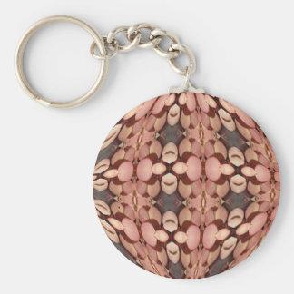 Rosaordkaleidoscopen knäppas Keychain Rund Nyckelring