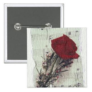 <Rose and Music> vid Kim Koza 2 Standard Kanpp Fyrkantig 5.1 Cm