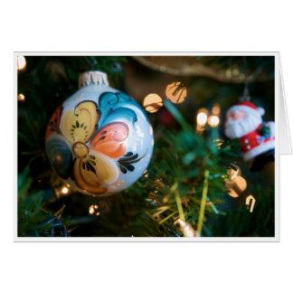 Rosemaling julkort (glatt och ljust) hälsningskort
