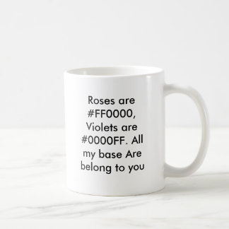 Roses are #FF0000, Violets are #0000FF. All my ... Kaffemugg