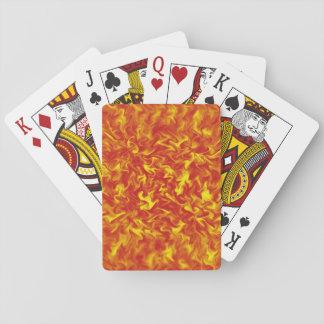 Rosett band av avfyrar att leka kort kortlek