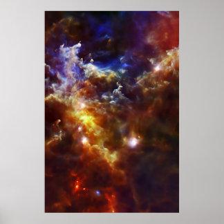 Rosettenebulas stjärn- barnkammare poster
