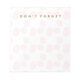 "Rosewater smetar ""glömmer inte "", anteckningsblock"