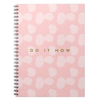 """Rosewater smetar """"gör det nu """", anteckningsbok med spiral"""
