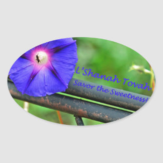 Rosh Hashanah Cards gåvor Ovalt Klistermärke