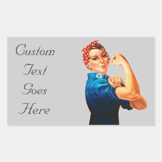 Rosie affischen för Riveter WWII Rektangulärt Klistermärke