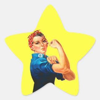 Rosie affischen för Riveter WWII Stjärnformat Klistermärke