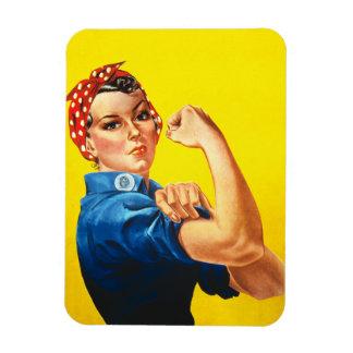 Rosie den högvärdiga magneten för Riveter Rektangel Magneter