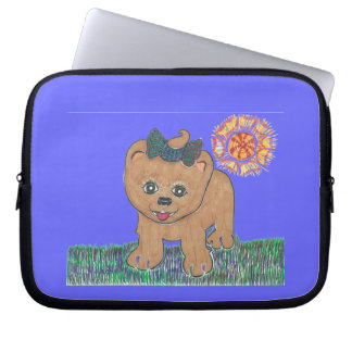 Rosie den Pomeranian valpen Laptop Fodral