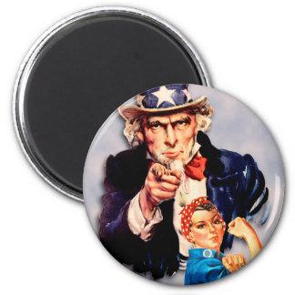 Rosie den riveter- & för Uncle Sam designen Magnet