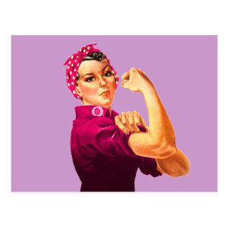 Rosie riveteren - cancerrosa vykort