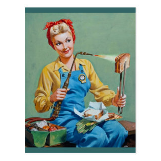 Rosie riveteren gör rostad ost vykort