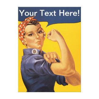 Rosie riveteren kan vi göra den! Du skräddarsy! Canvastryck