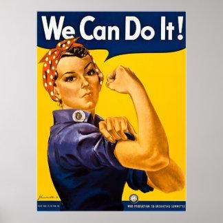 Rosie riveteren kan vi göra den!  Vintage WWII Poster