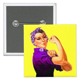 Rosie riveteren - purpurfärgad Fibromyalgia Knappar Med Nål