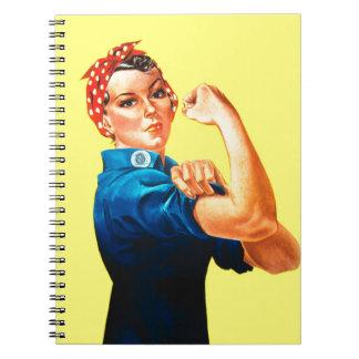 Rosie riveteren - vi kan göra den, kulturell anteckningsbok med spiral