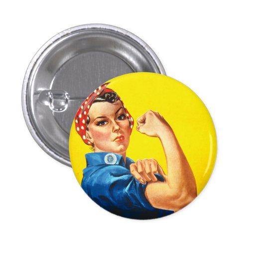 Rosie som riveteren knäppas knappar med nål