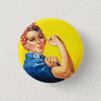 Rosie som riveteren knäppas mini knapp rund 3.2 cm