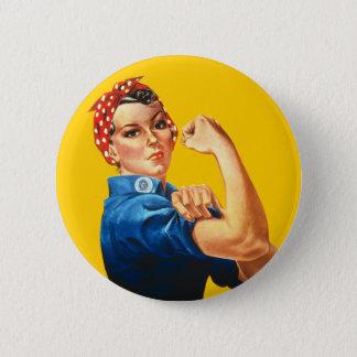 Rosie som riveteren knäppas standard knapp rund 5.7 cm