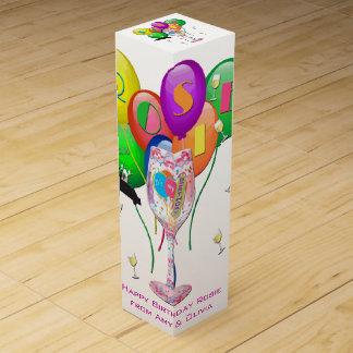 Rosies födelsedagvin boxas förpackningar för vinflaskor