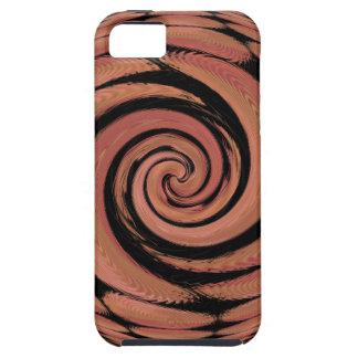 Rosig beige snurrabstrakt iPhone 5 Case-Mate fodral