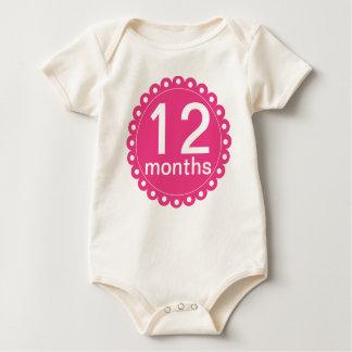Rosor 12 månader gamlingranka body för baby