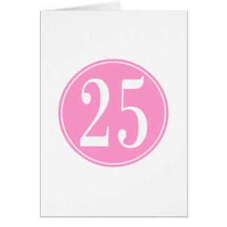 Rosor #25 cirklar hälsningskort