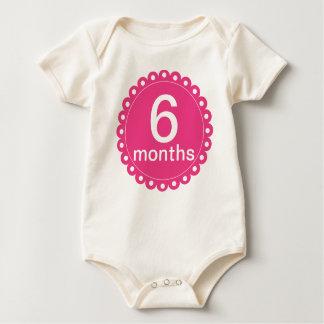 Rosor 6 månader gamlingranka body