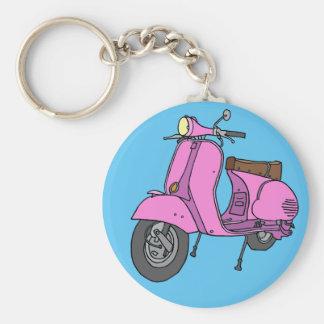 Rosor bilar sparkcykeln rund nyckelring