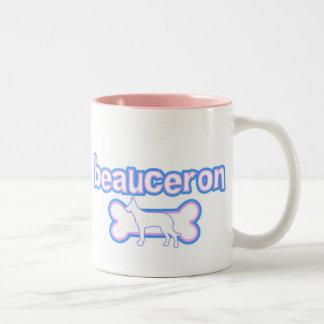 Rosor & blått Beauceron Två-Tonad Mugg