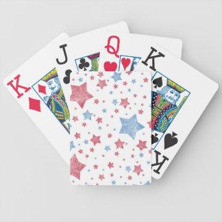 Rosor + Blåttstjärnor Spelkort
