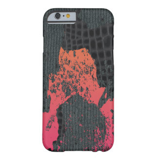 Rosor/destruktiv abstrakt tröja för persika barely there iPhone 6 fodral