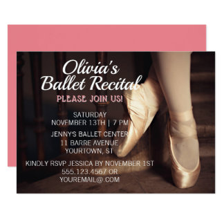 Rosor för Ballerina för inbjudan för