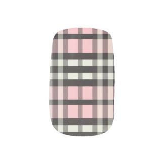 Rosor för bebis för slyna för plädTartanmönster) Nagel Decaler