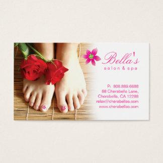 Rosor för blomma för Pedicure för nagelsalongSpa Visitkort