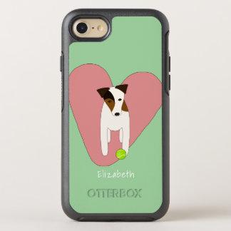 Rosor för boll för tennis för hjärta för den OtterBox symmetry iPhone 7 skal