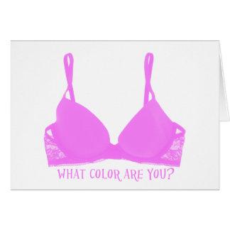 Rosor för bröstcancermedvetenhetbehå hälsningskort