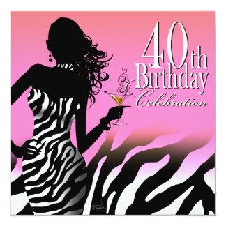 Rosor för klänning för födelsedagsfest för fyrkantigt 13,3 cm inbjudningskort