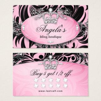 Rosor för krona för smycken för sebralojalitetkort visitkort