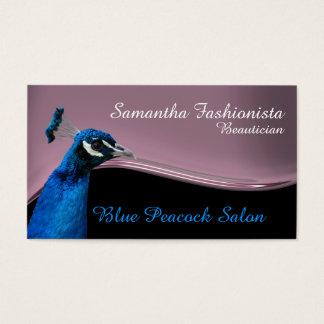 Rosor för påfågelskönhetterapi visitkort
