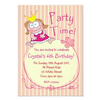 Rosor för Princess födelsedagsfest inbjudan