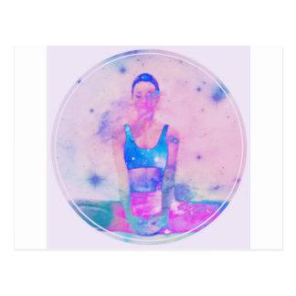 Rosor för serie för Dharma Yogaflicka Vykort