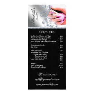 Rosor för silver för nagelsalong servar polska reklamkort